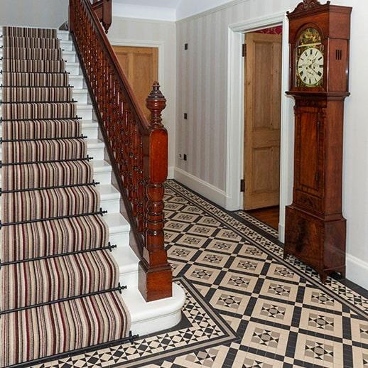 domestic mosaic hallway tiling