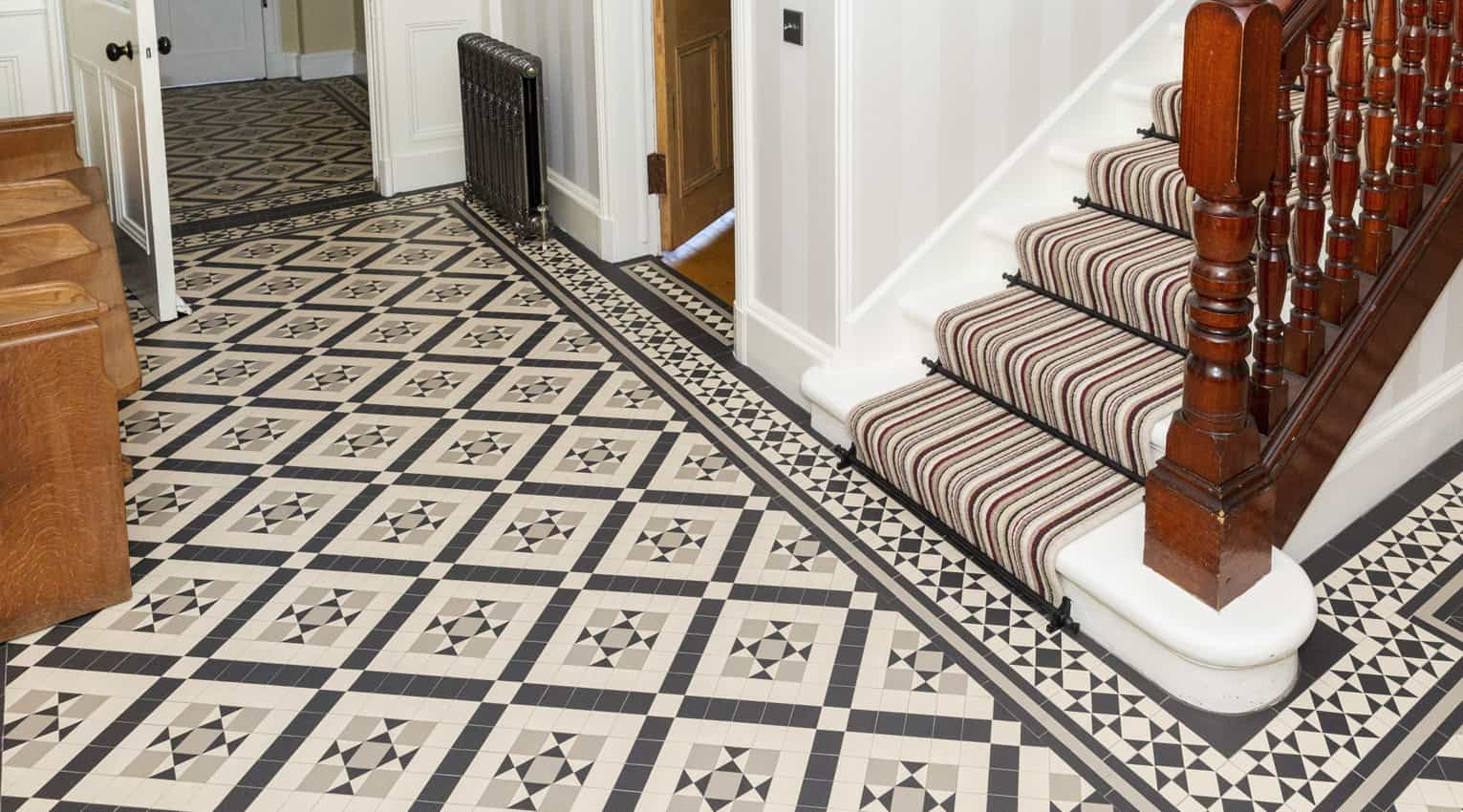 specialist contemporary geometric tiling for a hallway